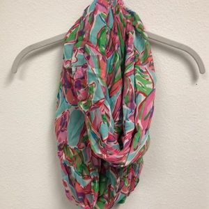 lilly pulitzer flamingo wrap scarf
